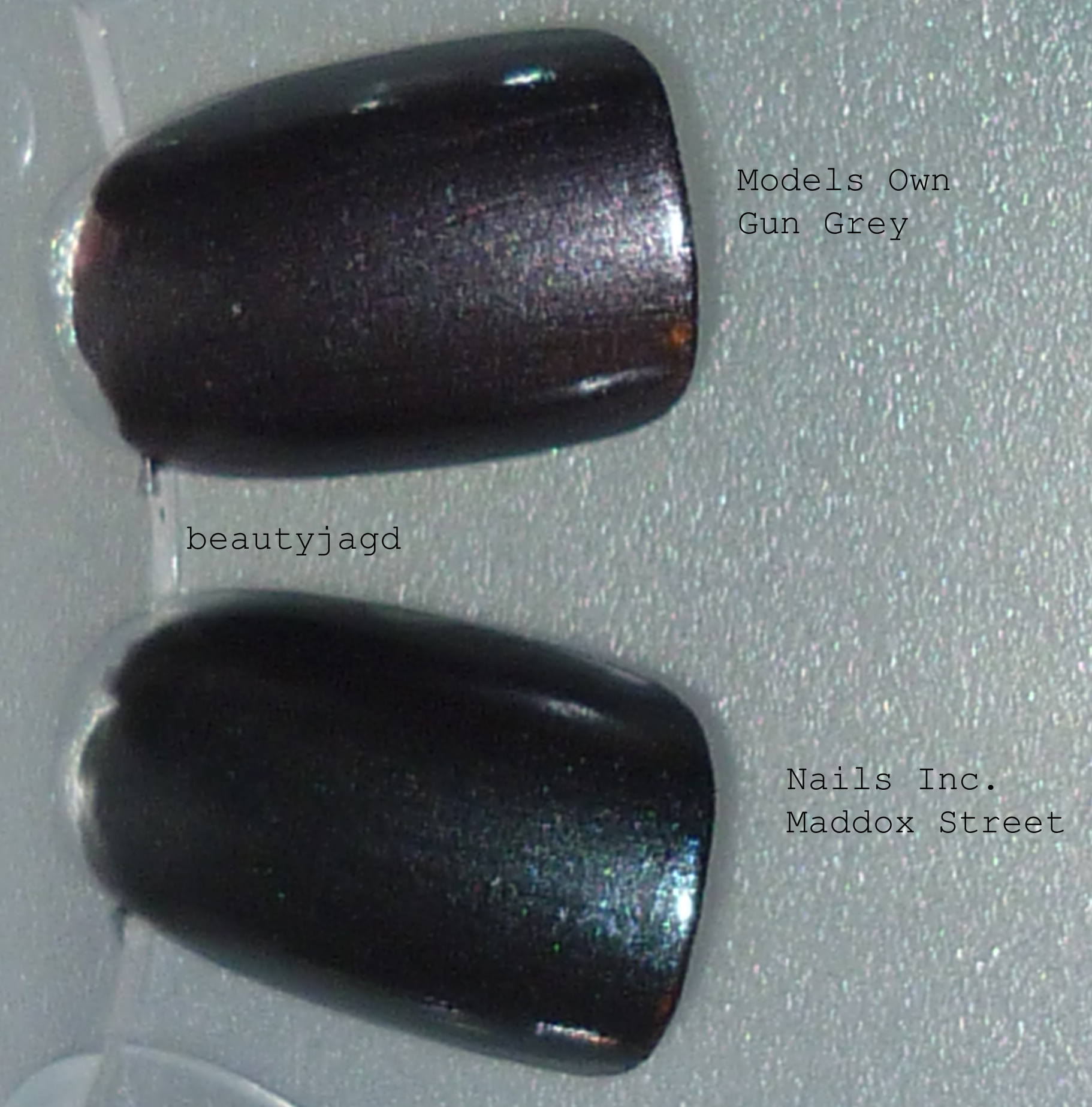 Gun Metal-Nagellacke von Models Own und Nails Inc. | Beautyjagd