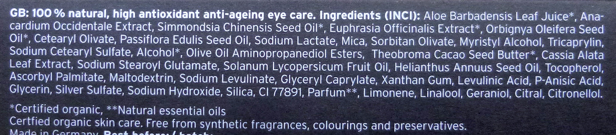 inci xingu eye cream