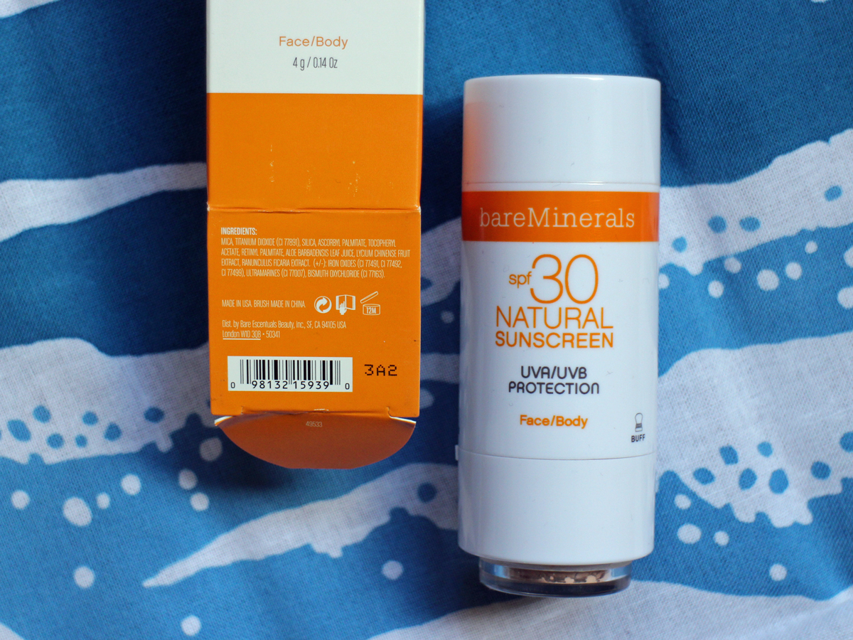 Bare Minerals Sunscreen