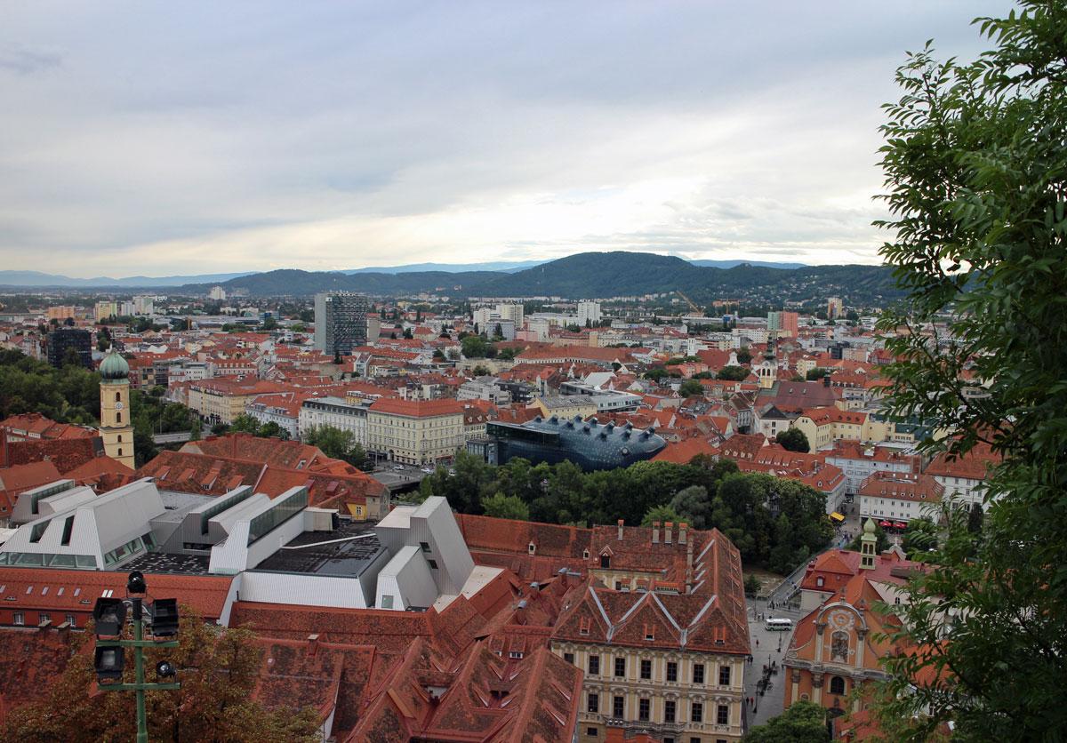 Graz Blick Schlossberg