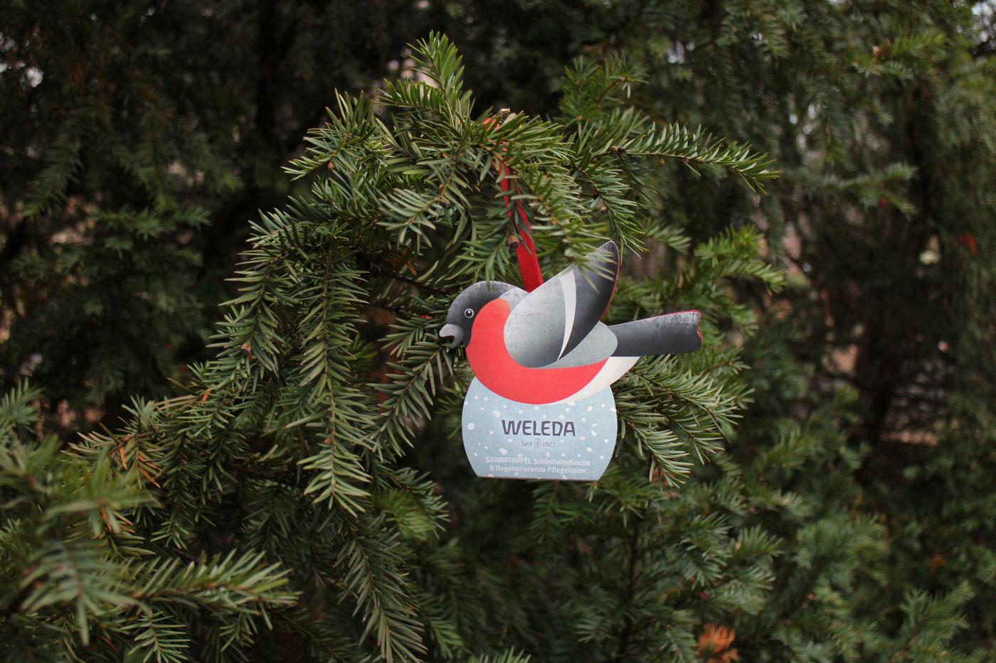 Weleda Weihnachten 2018 Vogel